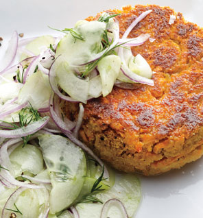 Chickpea and sweet potato cakes
